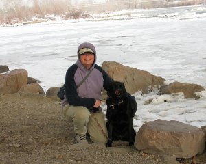 Jenny with me on the Clark Fork River