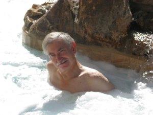 Scott in the hot tub